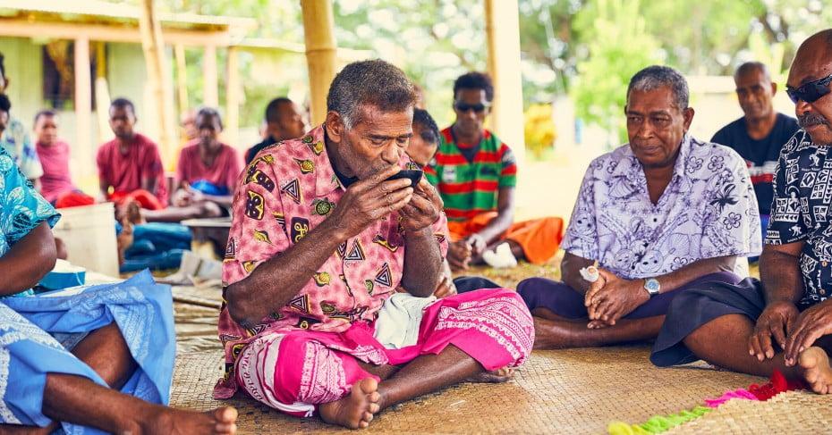 Village tour in Fiji.