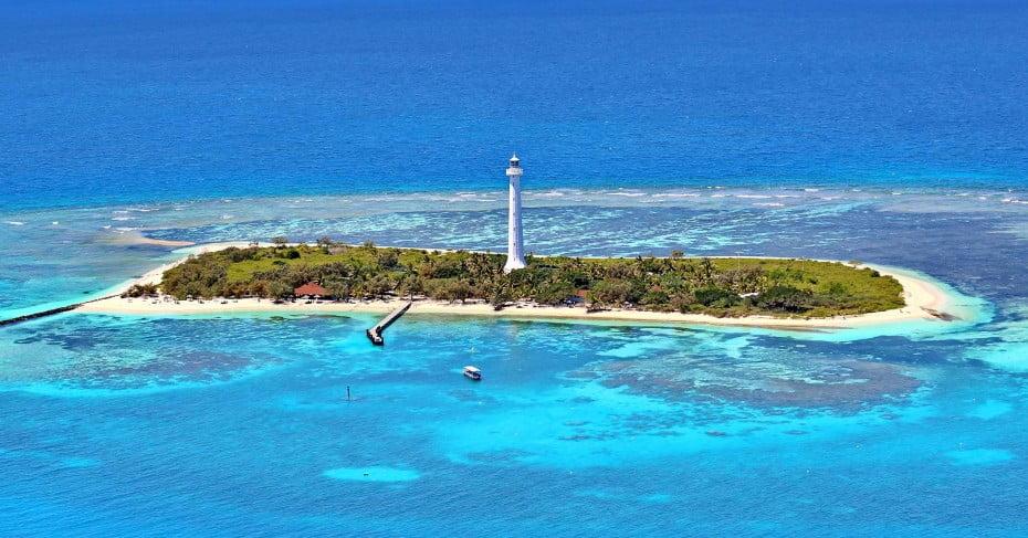 The lighthouse on Amedee Island, New Caledonia.