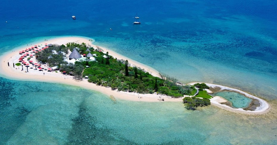 Ariel view of Ile aux Canards, New Caledonia.