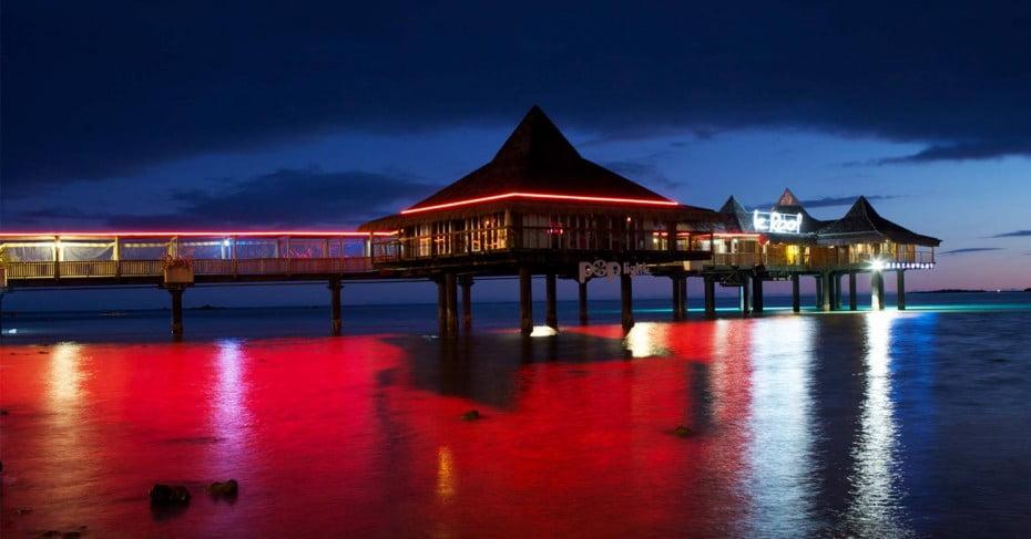 Overwater restaurant, Noumea.