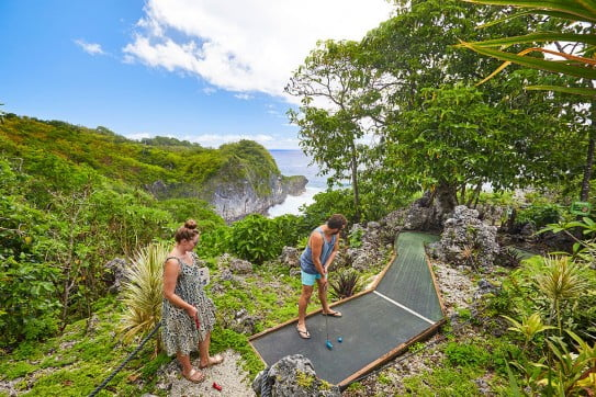 Mini golf at Cafe Vaiolama, Niue.