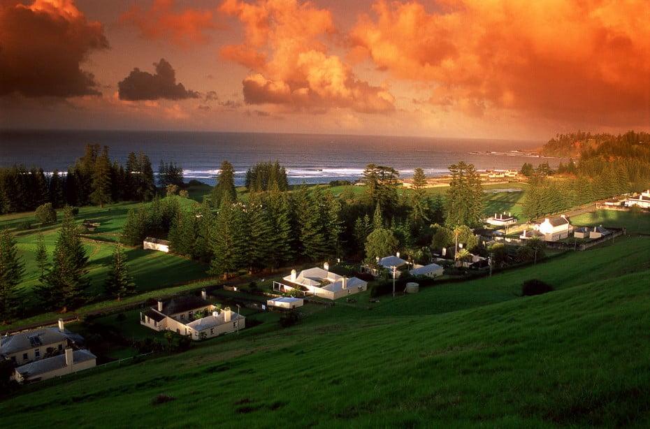 Sunrise view from Queen Elizabeth's Lookout, Norfolk Island.