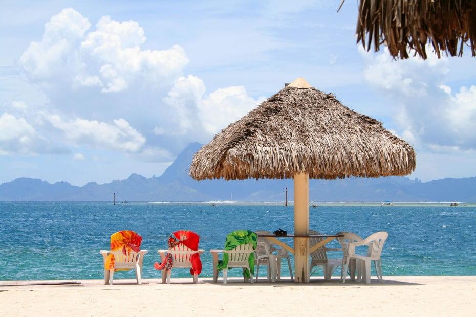 Umbrella beach, Tahiti.