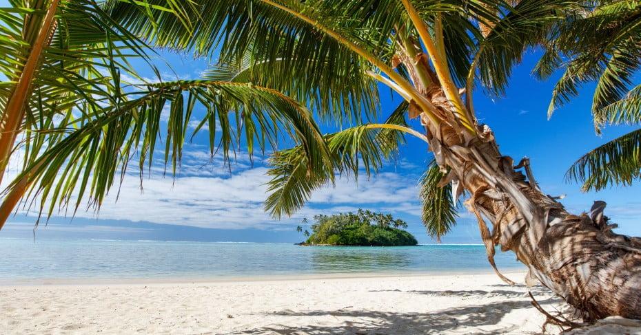 Beach, Rarotonga, Pacifs.