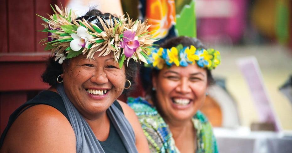 Women at Punanganui Markets, Rarotonga