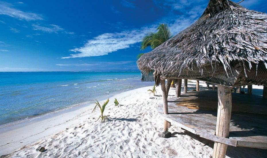 Beach fales, Samoa.