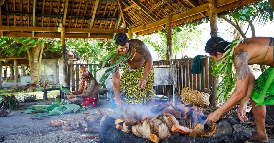 Experience an umu feast in Samoa.