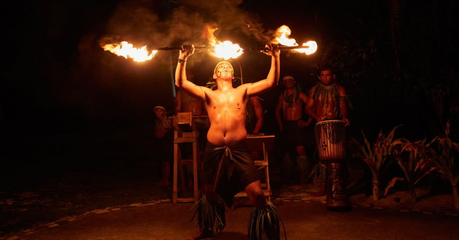 Fire dancing, Samoa, Pacific Islands.