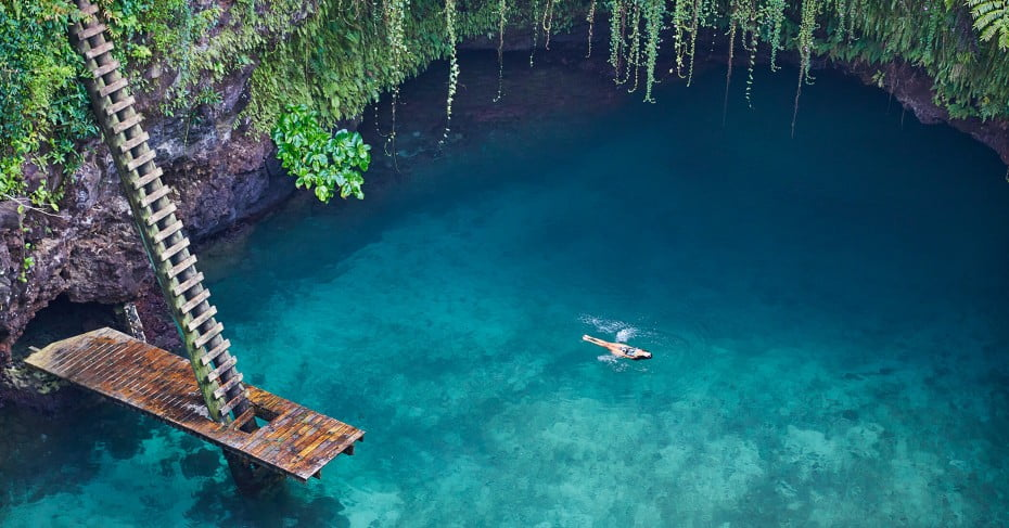 To Sua Ocean Trench, Samoa, Pacific Islands.