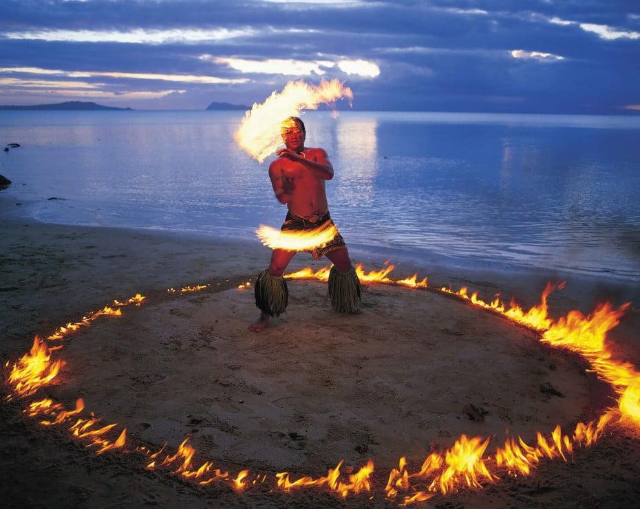 Fire dancing, Samoa.