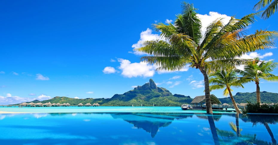 Bora Bora Mt Otemanu Infinity Pool, Tahiti
