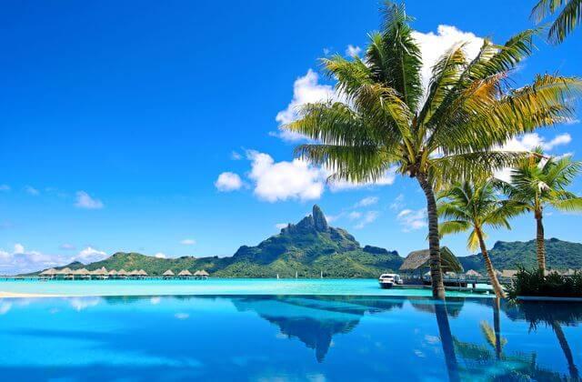 Bora Bora Mt Otemanu Infinity Pool, Tahiti, Pacific Island