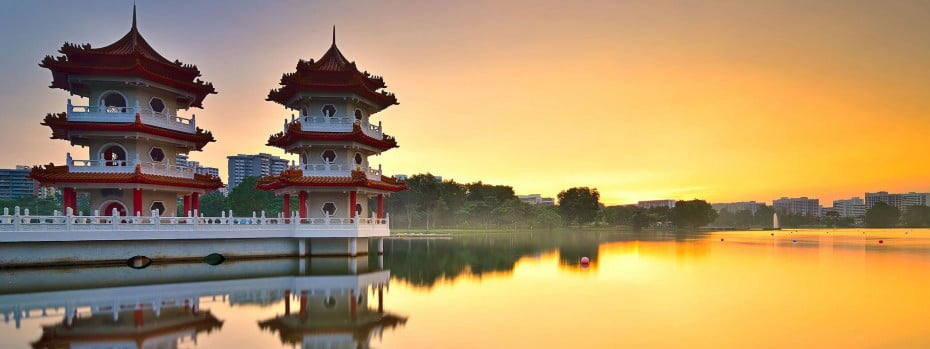 Twin pagoda, Singapore.