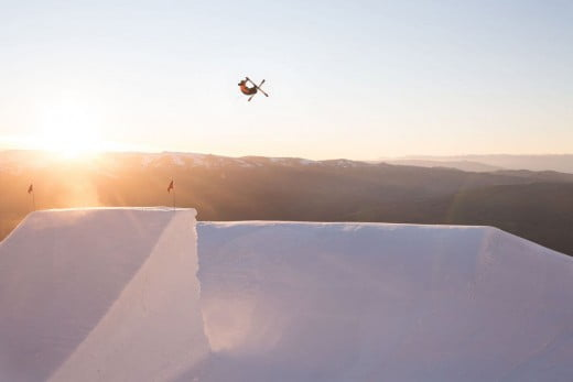 An advanced air jump at Cardrona