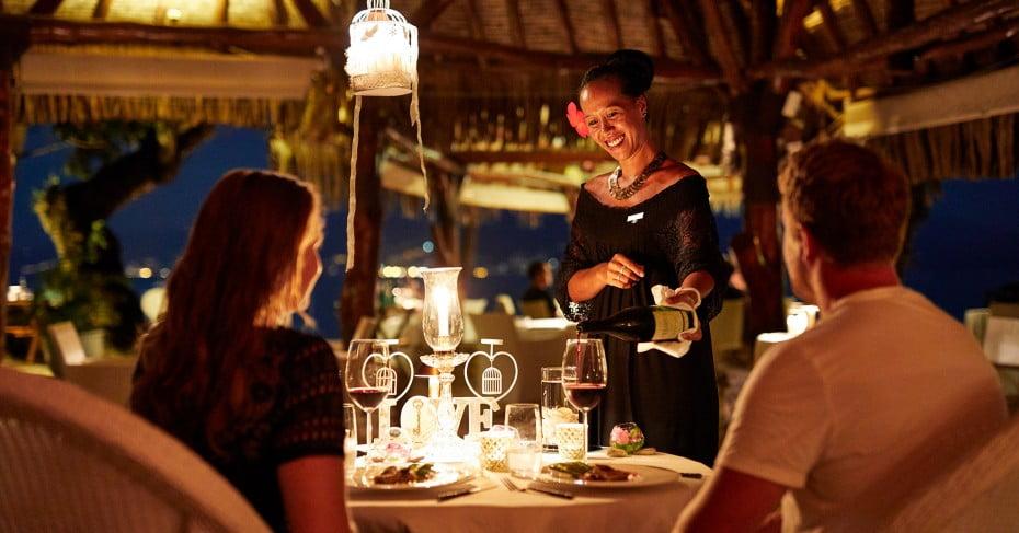 Tahiti fine dining.