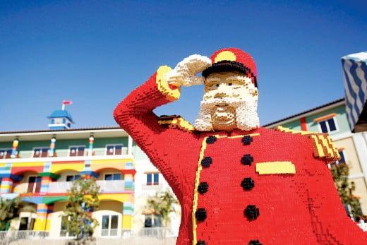 Lego man, Legoland, Carlsbad, California, United States.