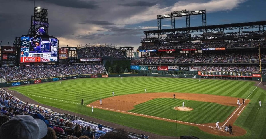 Coors Field baseball stadium, Denver, USA.