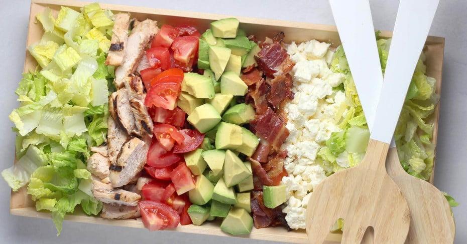 A deconstructed cobb salad.