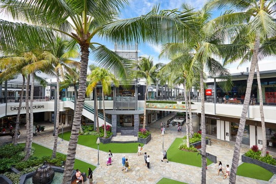 Shopping mall, Hawaii, United States.