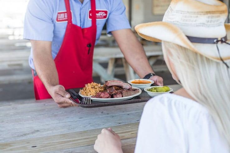 Food tray, Houston, USA.