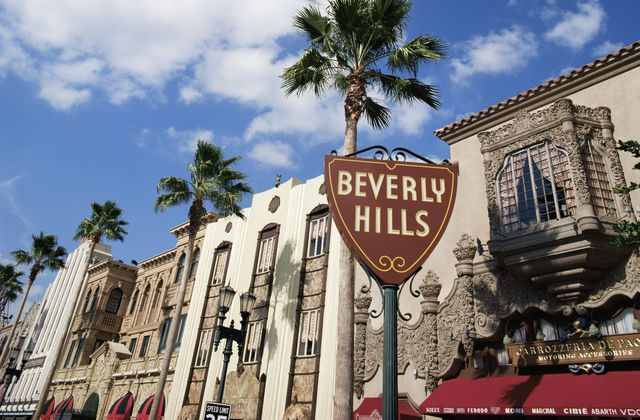 Beverly Hills road sign