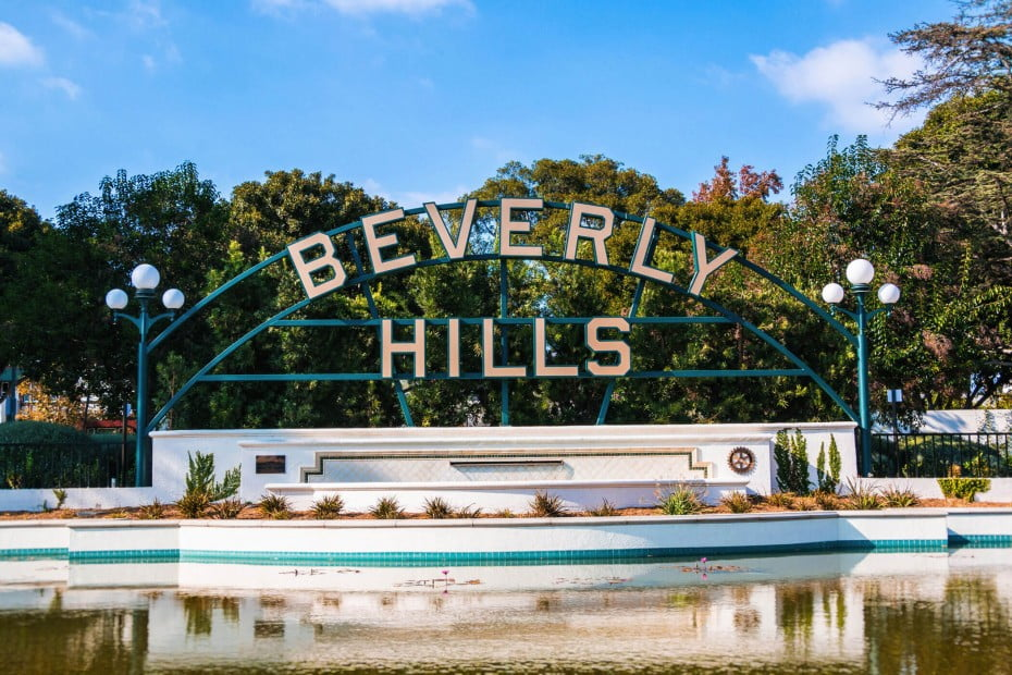 Beverly Hills sign, Los Angeles, California