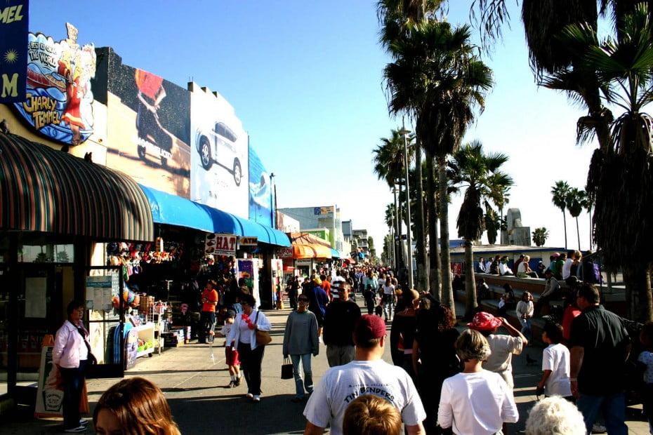 Venice beach boardwalk, Los Angeles, USA.