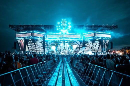 Blue stage, Ultra Music Festival, Miami, United States.