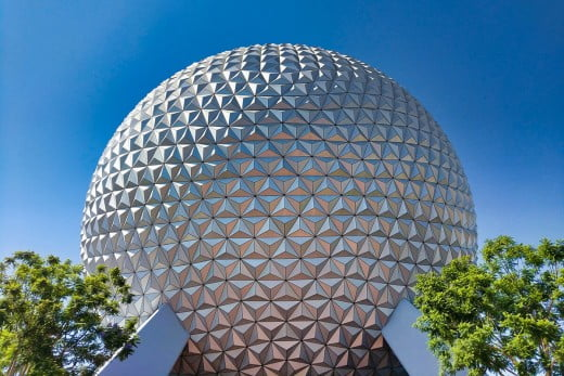 Epcot Ball, Disney World, Orlando, United States.
