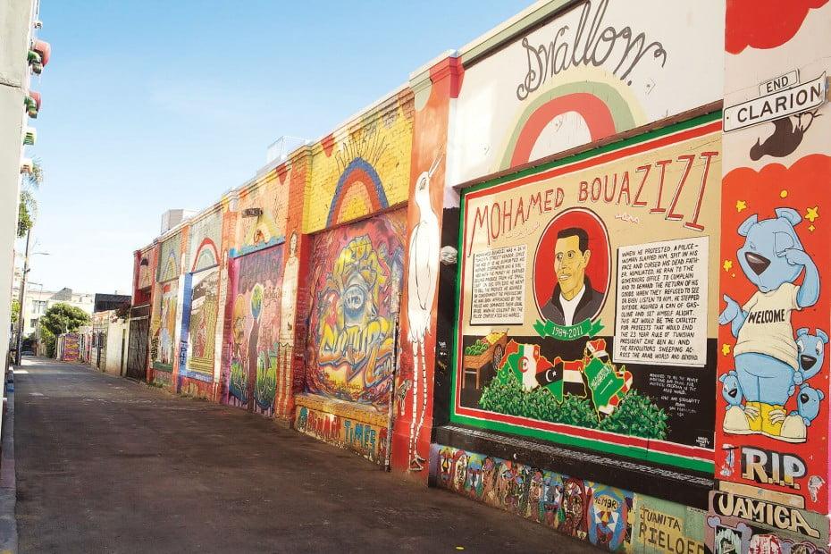 Clarion Alley mural, San Francisco, USA.