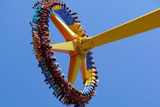 Gyro swing, Cedar Point, Sandusky, United States.