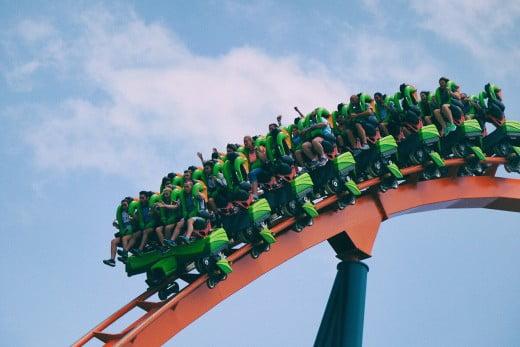 Rollercoaster, Cedar Point, Sandusky, United States.