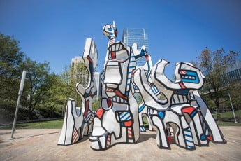 Sculpture, Discovery Green, Houston, USA.
