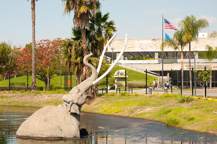 La Brea Tar Pits, Los Angeles, USA.