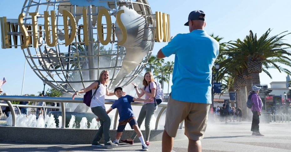 Family at Universal Studios Hollywood, United States