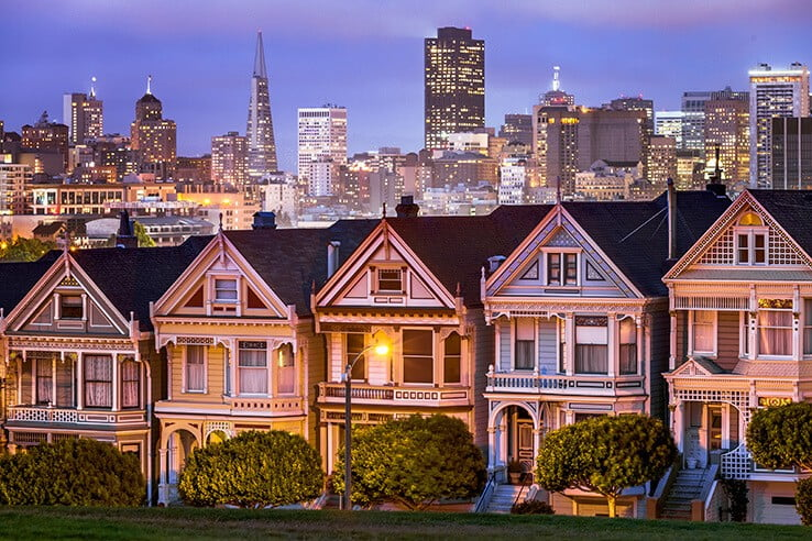 Painted ladies, San Francisco, USA.