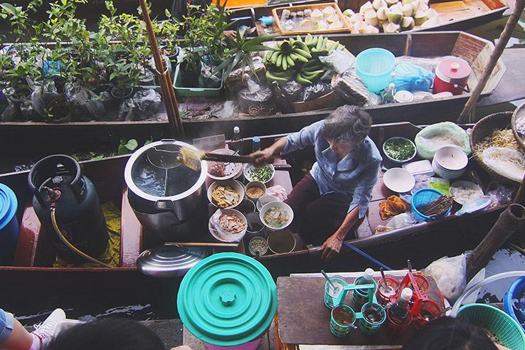 Boat market, Vietnam.