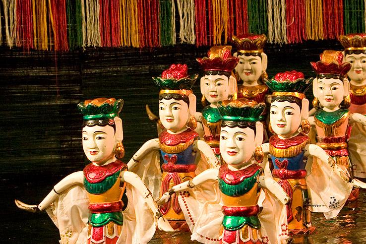 Puppet theatre in water, Hanoi, Vietnam.