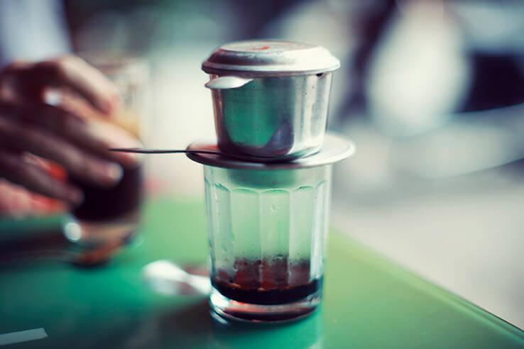 Traditional Vietnamese coffee, Vietnam.