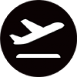 Air New Zealand plane taking off icon.