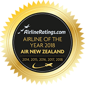 Airlineratings.com Airline of the Year 2018 logo.