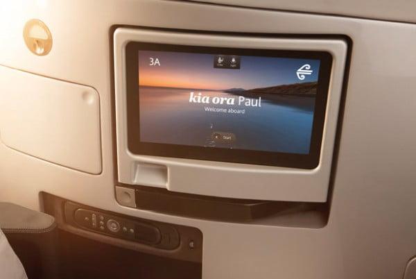 Air New Zealand 787-9 Business Premier Inflight Entertainment.