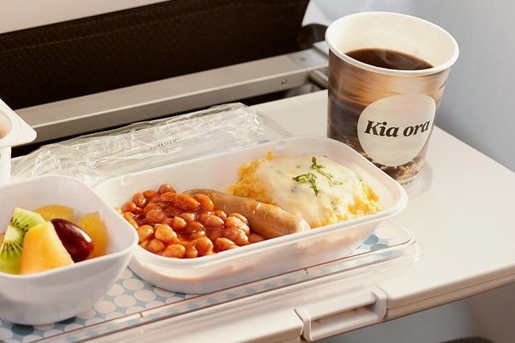 Air New Zealand Economy breakfast.