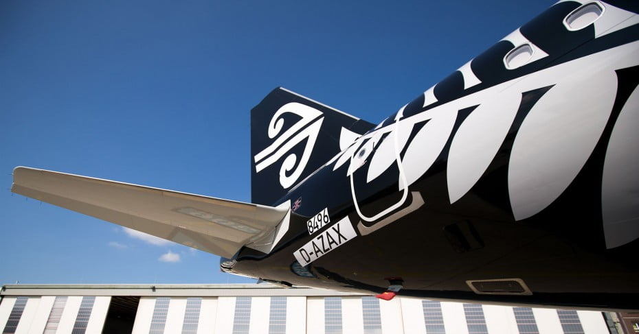 Air New Zealand's new A321neo.