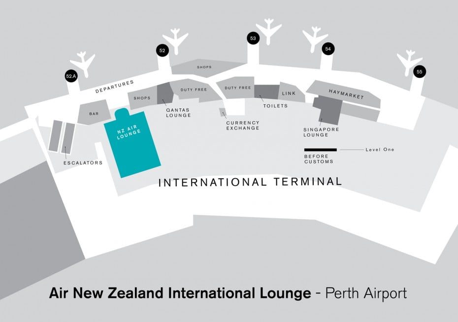 Air New Zealand International Lounge - Perth Airport.