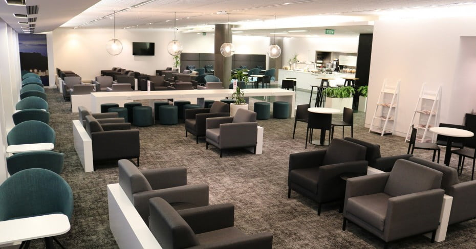 Air New Zealand Wellington International Lounge.