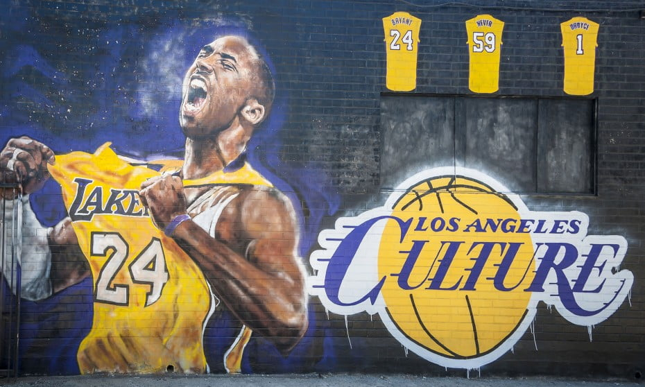 Mural of Kobe Bryant near the Convention Centre in Los Angeles.