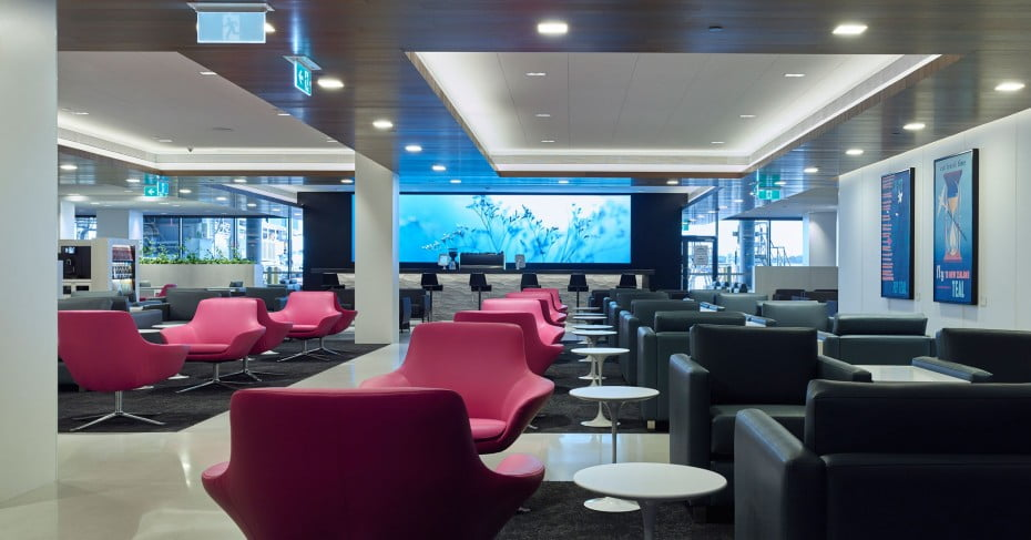 Air New Zealand International Lounge.