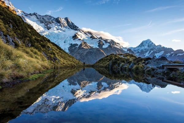 ニュージーランド秘密のスポット - トレッキングルート- セアリー・ターンズ・トラック(Sealy Tarns Track) - アオラキ/マウントクック・ビレッジ(Aoraki/Mount Cook Village )