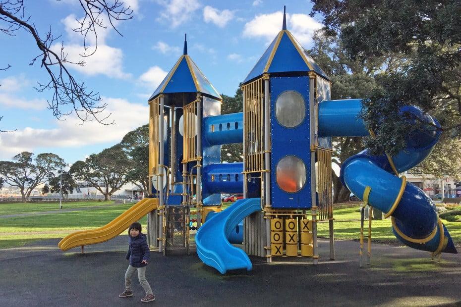 ニュージーランドで親子旅行 - ウインザーパーク・デボンポート(Windsor Reserve, Devonport )